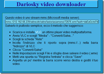 video dalla rai con vlc